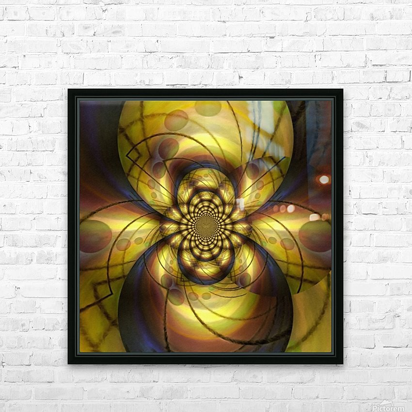 Geometric Fractal HD Sublimation Metal print with Decorating Float Frame (BOX)