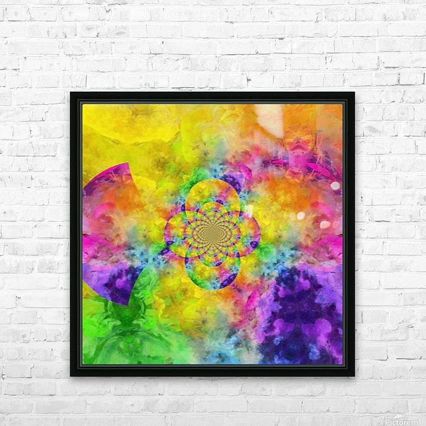 Colorful Fractal HD Sublimation Metal print with Decorating Float Frame (BOX)