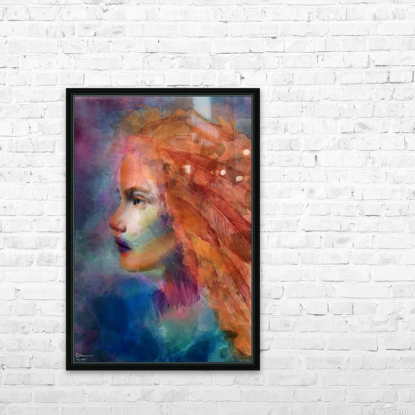 The autumn girl HD Sublimation Metal print with Decorating Float Frame (BOX)