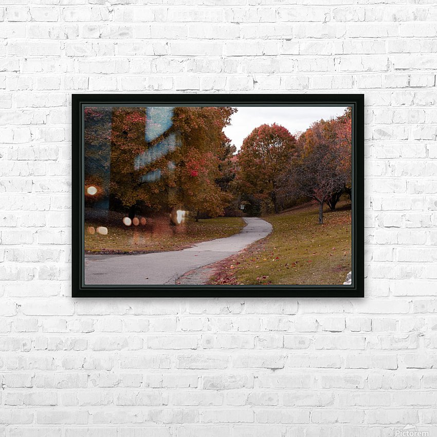 Autumn in the park HD Sublimation Metal print with Decorating Float Frame (BOX)