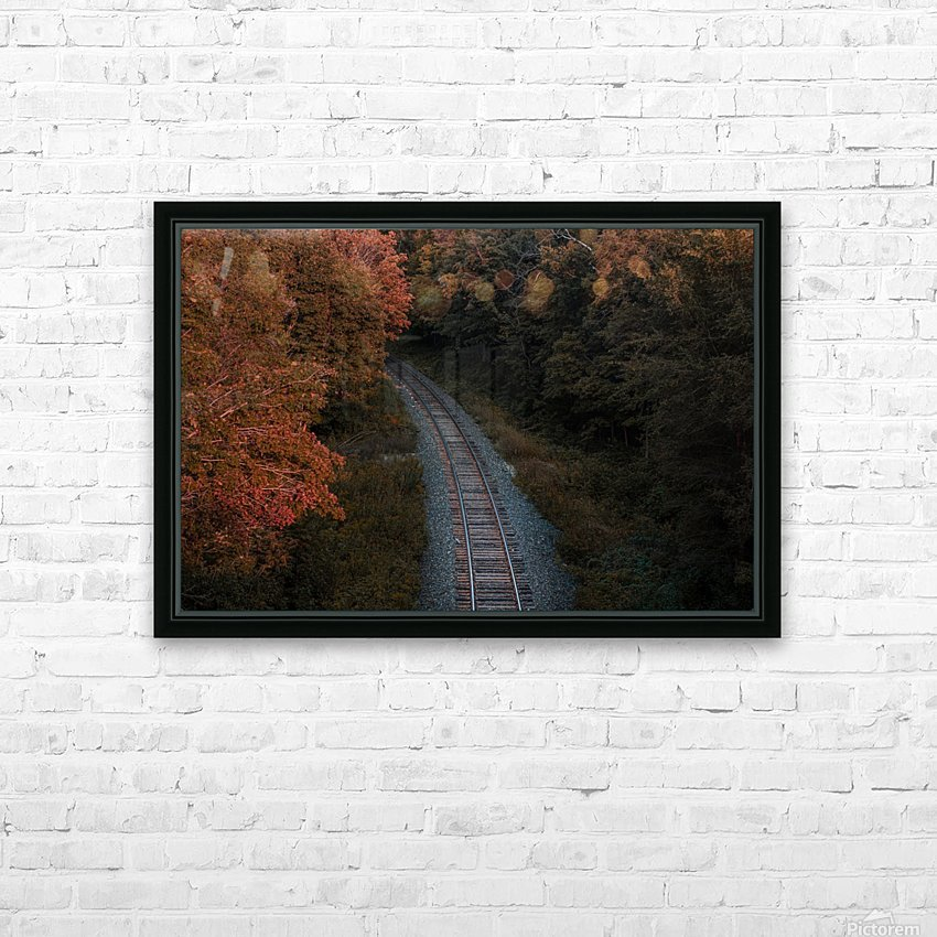 Train track HD Sublimation Metal print with Decorating Float Frame (BOX)