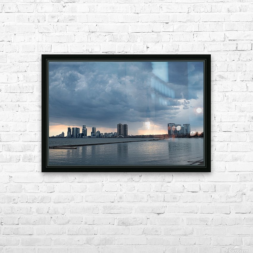 City at Ontario Lake HD Sublimation Metal print with Decorating Float Frame (BOX)