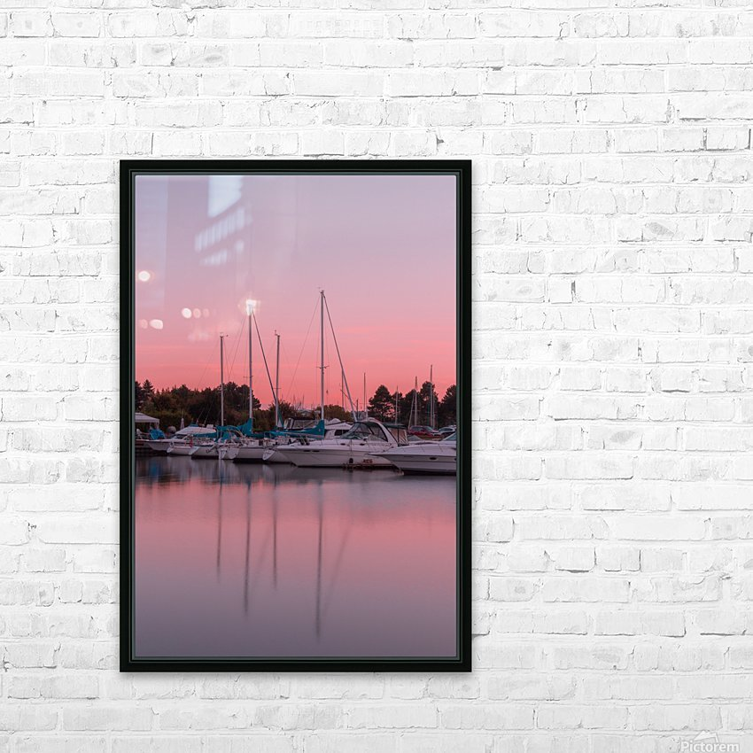 Sunset at the Lake HD Sublimation Metal print with Decorating Float Frame (BOX)