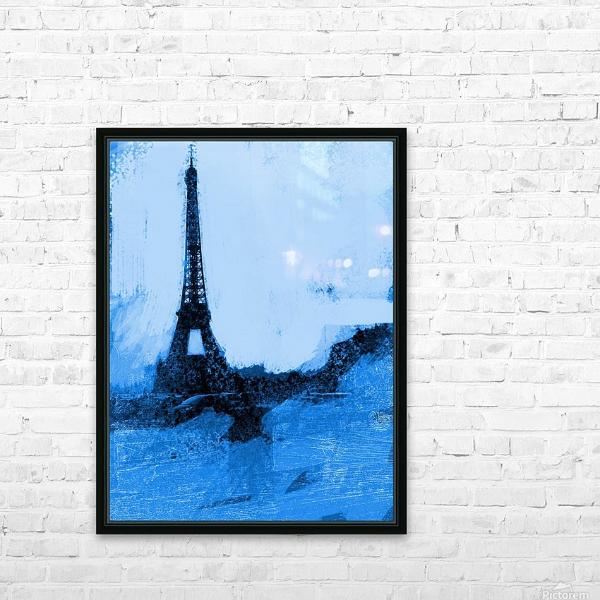 Paris Icon in Cyan HD Sublimation Metal print with Decorating Float Frame (BOX)