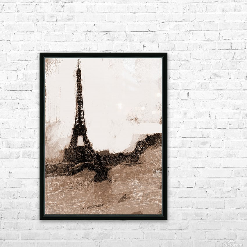 Paris Icon in Sephia HD Sublimation Metal print with Decorating Float Frame (BOX)