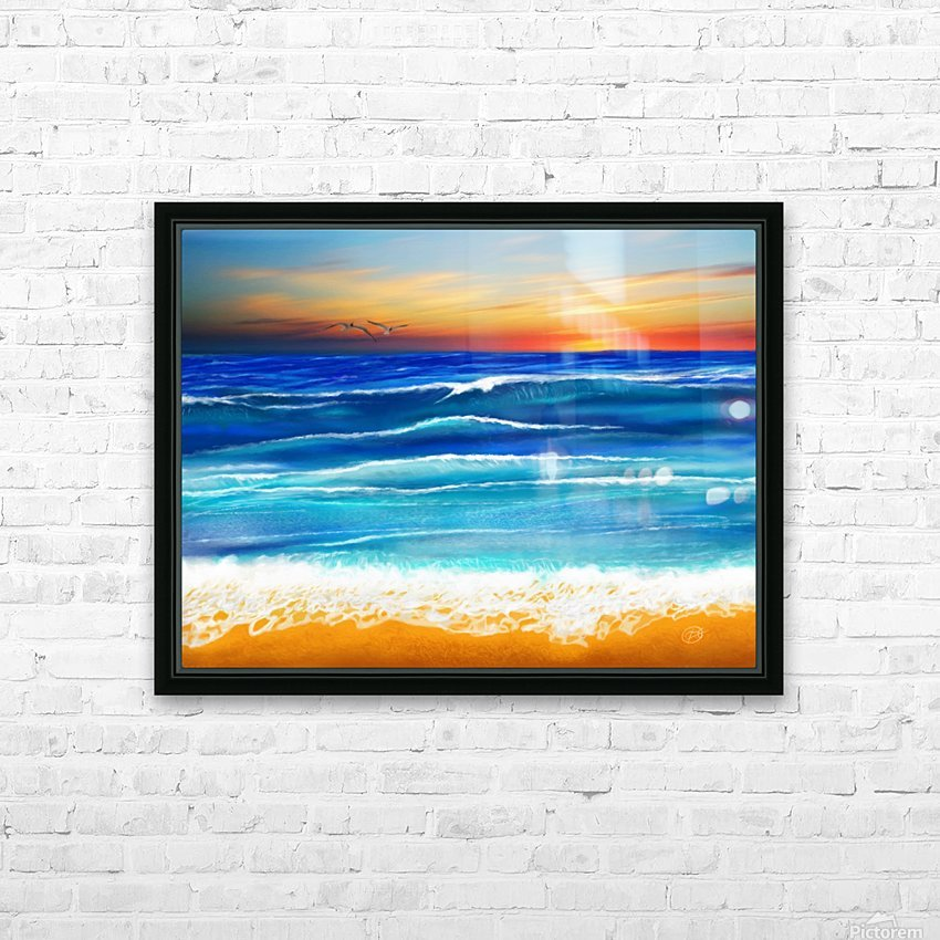 Sunset at 7pm HD Sublimation Metal print with Decorating Float Frame (BOX)