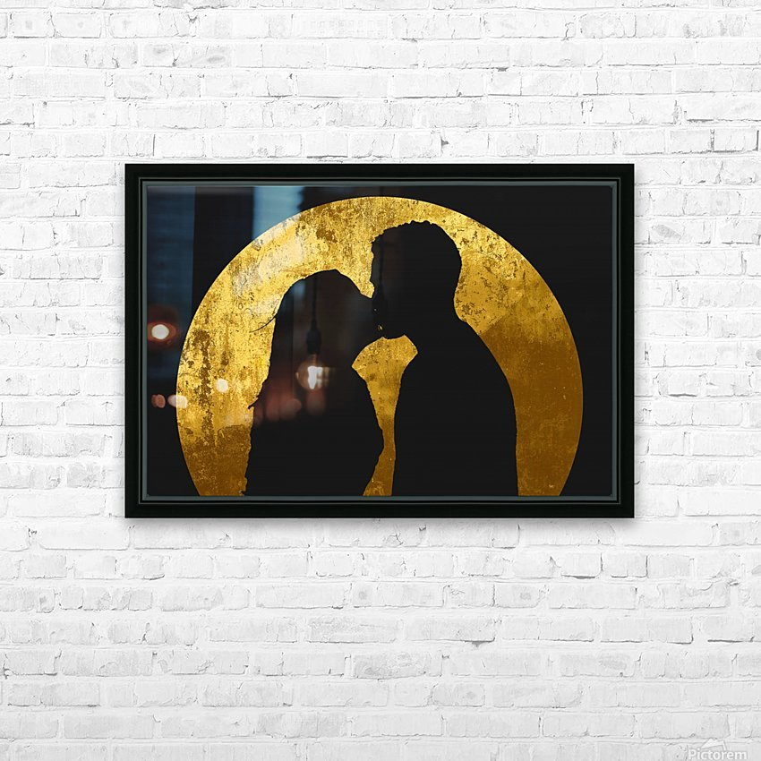 kiss and the moon HD Sublimation Metal print with Decorating Float Frame (BOX)