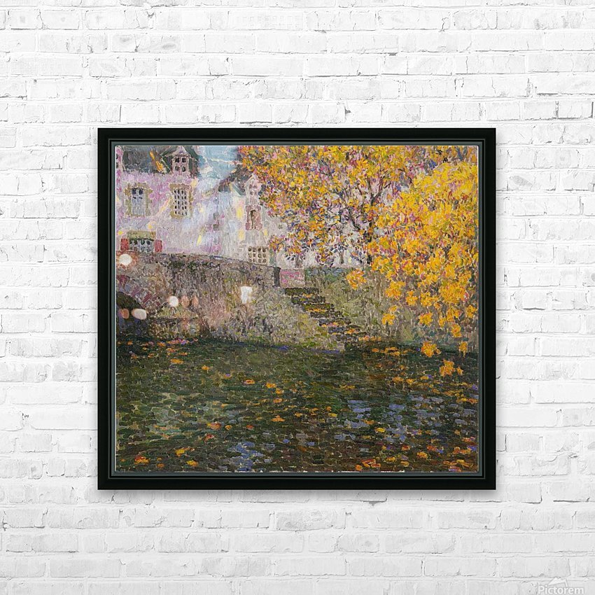 Bridge, Autumn, Gisors HD Sublimation Metal print with Decorating Float Frame (BOX)