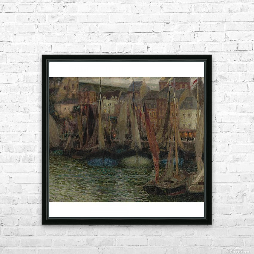 Boats at Treport HD Sublimation Metal print with Decorating Float Frame (BOX)