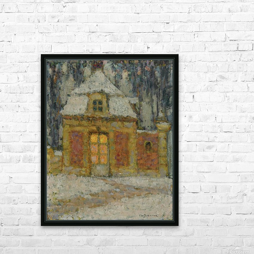 Snow, Versailles HD Sublimation Metal print with Decorating Float Frame (BOX)