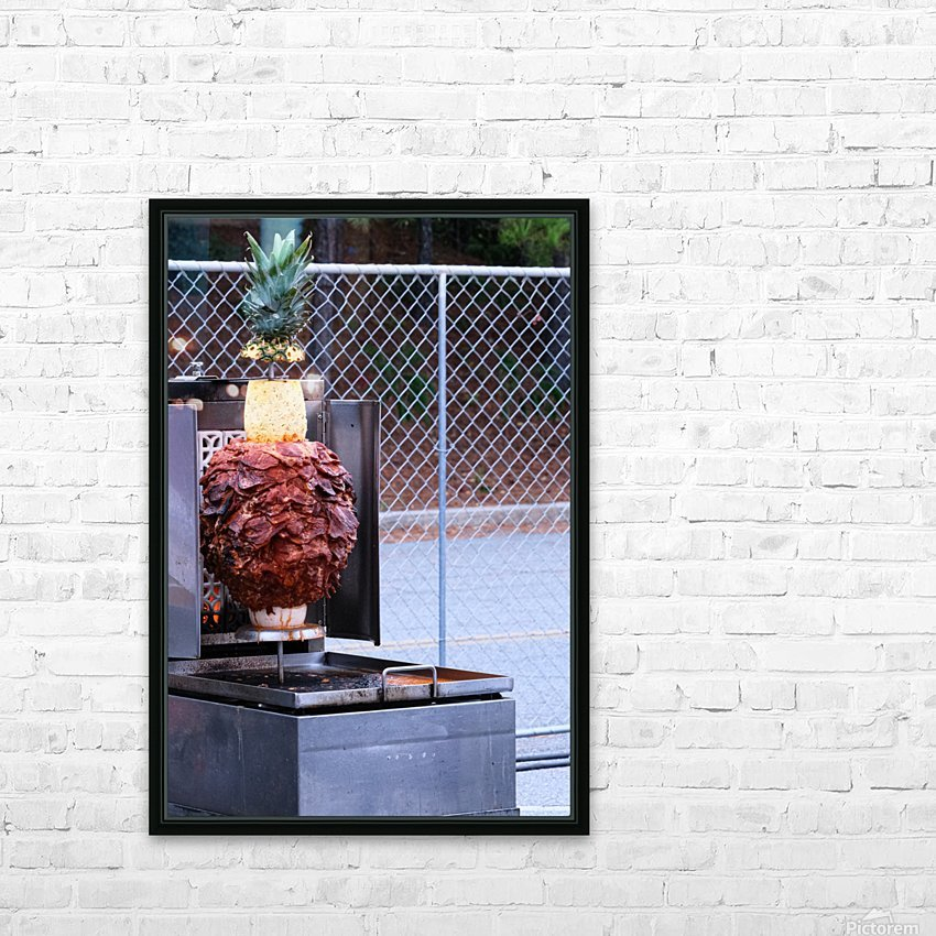Ham and Pineapple HD Sublimation Metal print with Decorating Float Frame (BOX)
