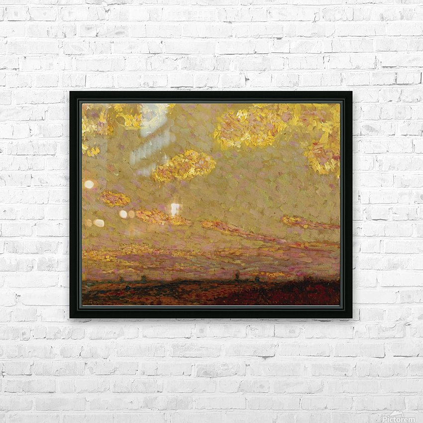 Sunset at Gerberoy HD Sublimation Metal print with Decorating Float Frame (BOX)