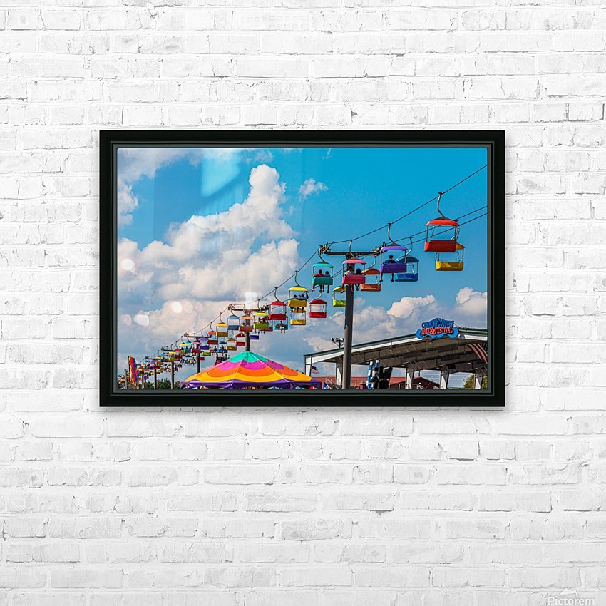 Skylift Over Cumming Fair HD Sublimation Metal print with Decorating Float Frame (BOX)
