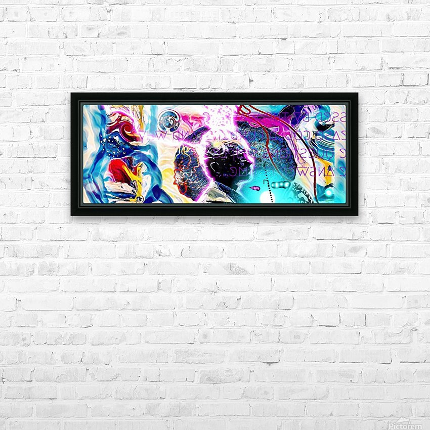 TESSERACT  HD Sublimation Metal print with Decorating Float Frame (BOX)