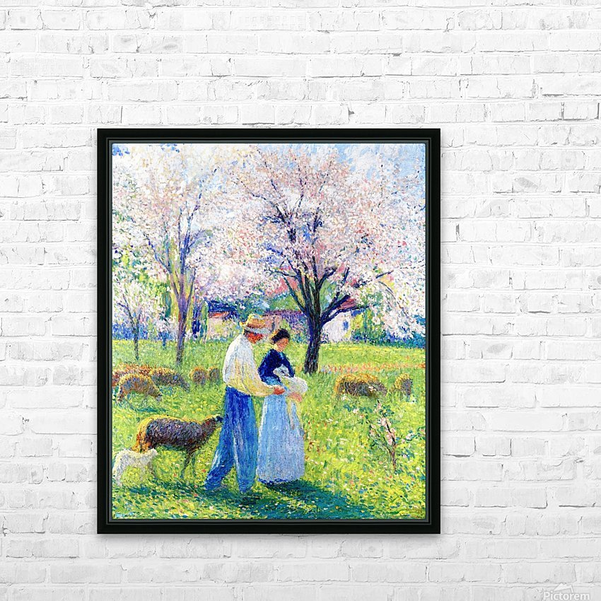 Lovers at Spring HD Sublimation Metal print with Decorating Float Frame (BOX)