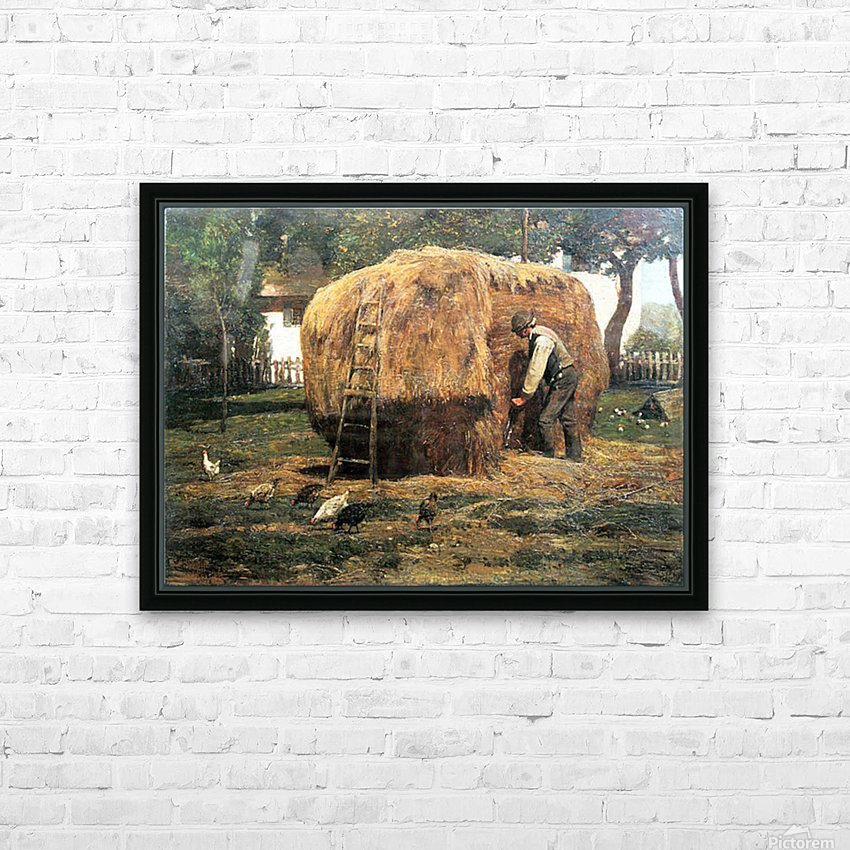 The Barnyard by Hassam HD Sublimation Metal print with Decorating Float Frame (BOX)