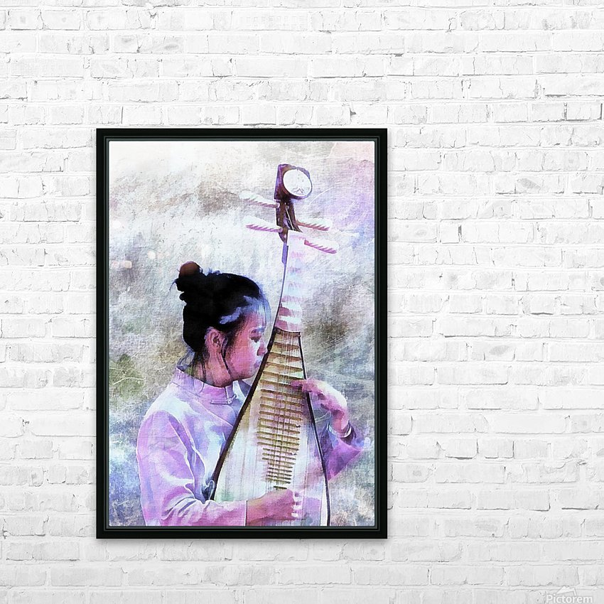 Chinese Musical Interlude HD Sublimation Metal print with Decorating Float Frame (BOX)