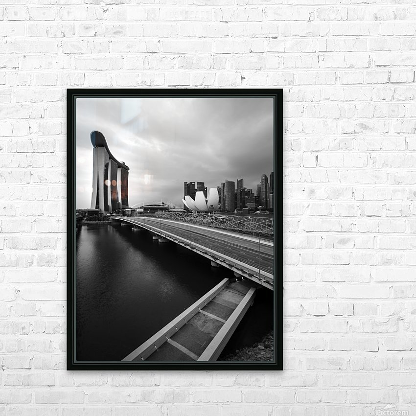 Singapores Marina Bay seen from the highway crossover HD Sublimation Metal print with Decorating Float Frame (BOX)