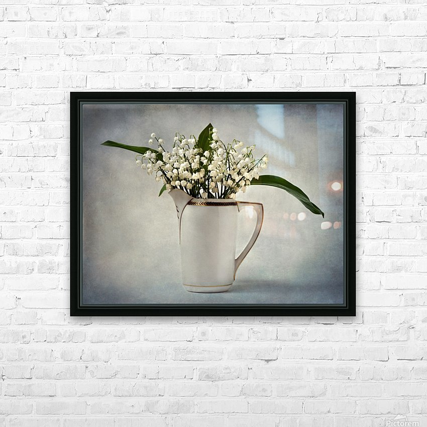 White HD Sublimation Metal print with Decorating Float Frame (BOX)