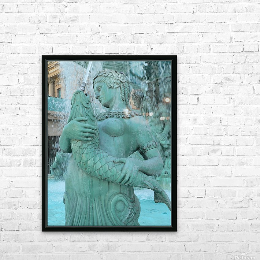 Statue HD Sublimation Metal print with Decorating Float Frame (BOX)