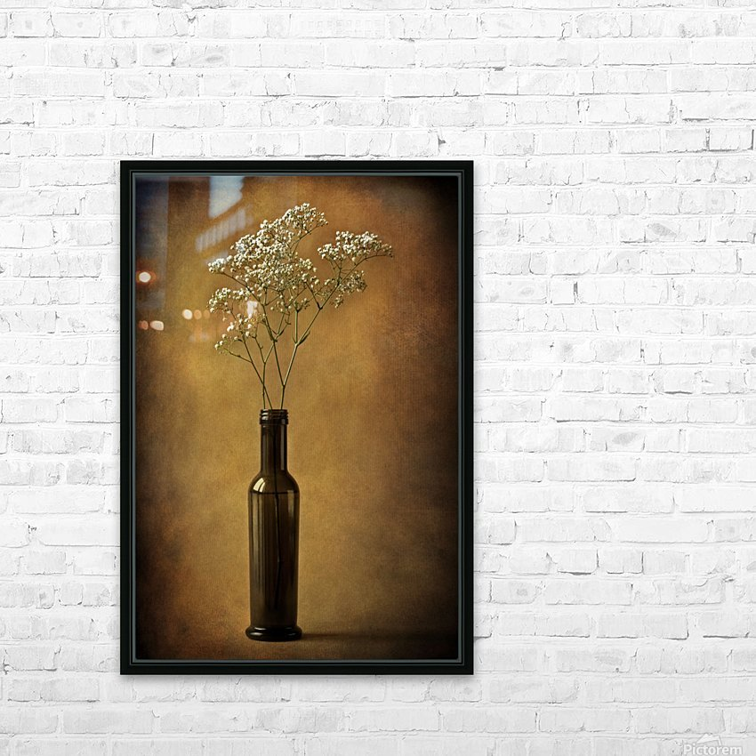 The olive oil bottle HD Sublimation Metal print with Decorating Float Frame (BOX)