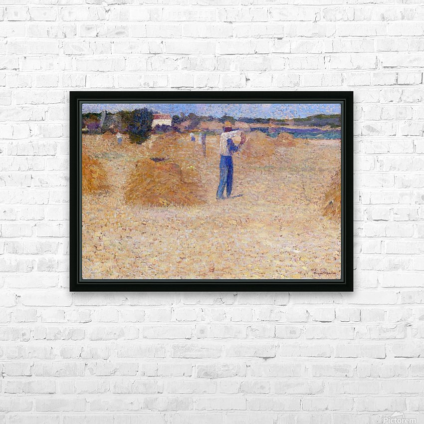The Reapers of the Wheat HD Sublimation Metal print with Decorating Float Frame (BOX)