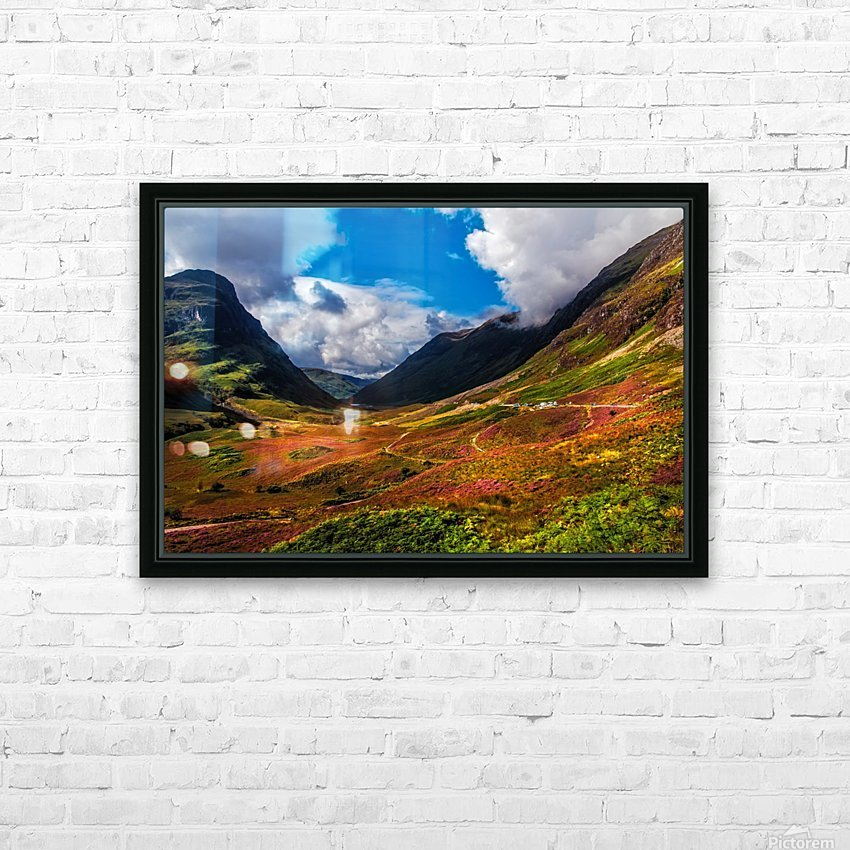 The Valley of Three Sisters. Glencoe. Scotland HD Sublimation Metal print with Decorating Float Frame (BOX)