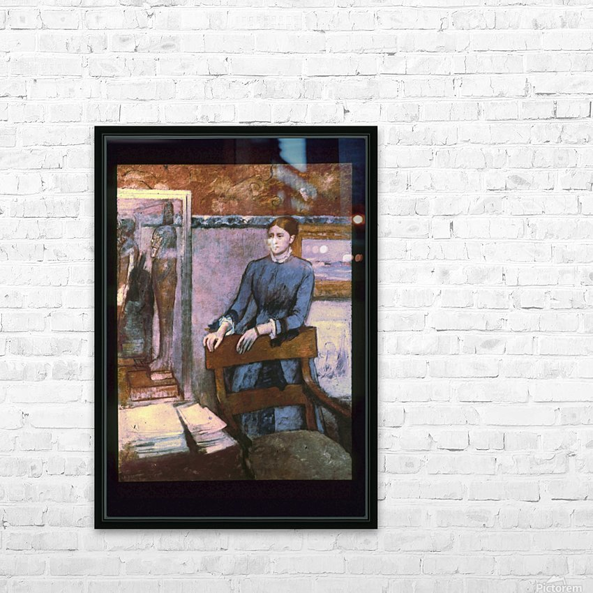 Hélène Rouart in her Father's Study HD Sublimation Metal print with Decorating Float Frame (BOX)