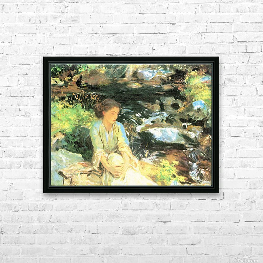 The black creek by John Singer Sargent HD Sublimation Metal print with Decorating Float Frame (BOX)