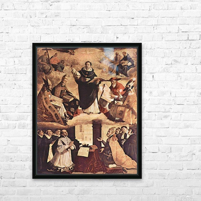 Saint Thomas Aquinas HD Sublimation Metal print with Decorating Float Frame (BOX)