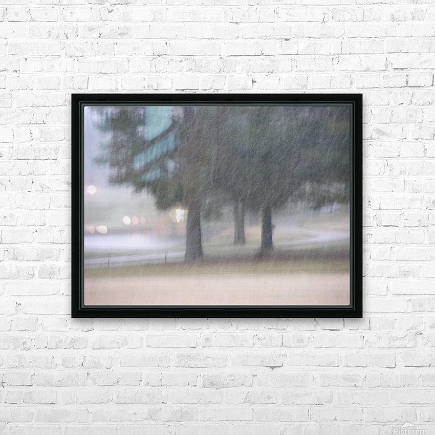 Soft Snow Fall Photograph HD Sublimation Metal print with Decorating Float Frame (BOX)
