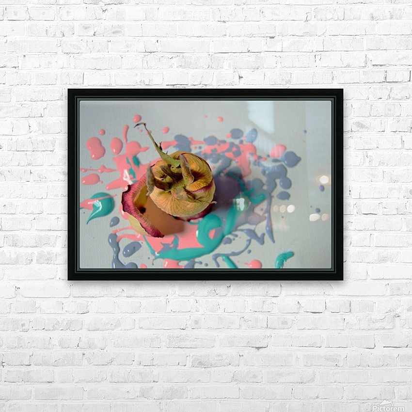 Painted Roses.04 HD Sublimation Metal print with Decorating Float Frame (BOX)