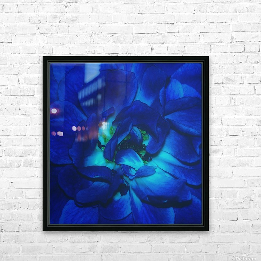 Blue Rose    HD Sublimation Metal print with Decorating Float Frame (BOX)