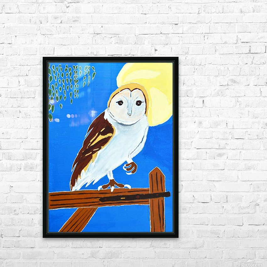 Davere H. Owl HD Sublimation Metal print with Decorating Float Frame (BOX)