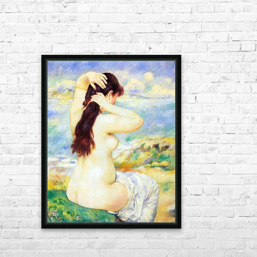 A Bather by Renoir HD Sublimation Metal print with Decorating Float Frame (BOX)