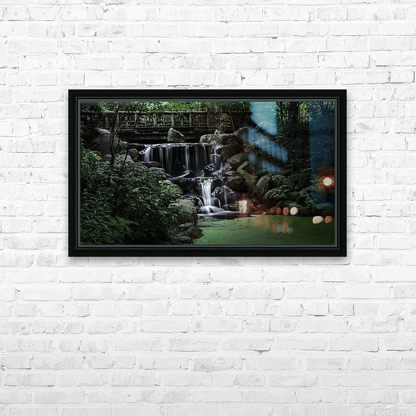 Prospect park waterfall no frame HD Sublimation Metal print with Decorating Float Frame (BOX)