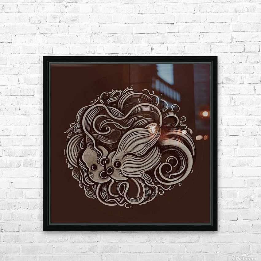 Lunar New Year Sepia HD Sublimation Metal print with Decorating Float Frame (BOX)