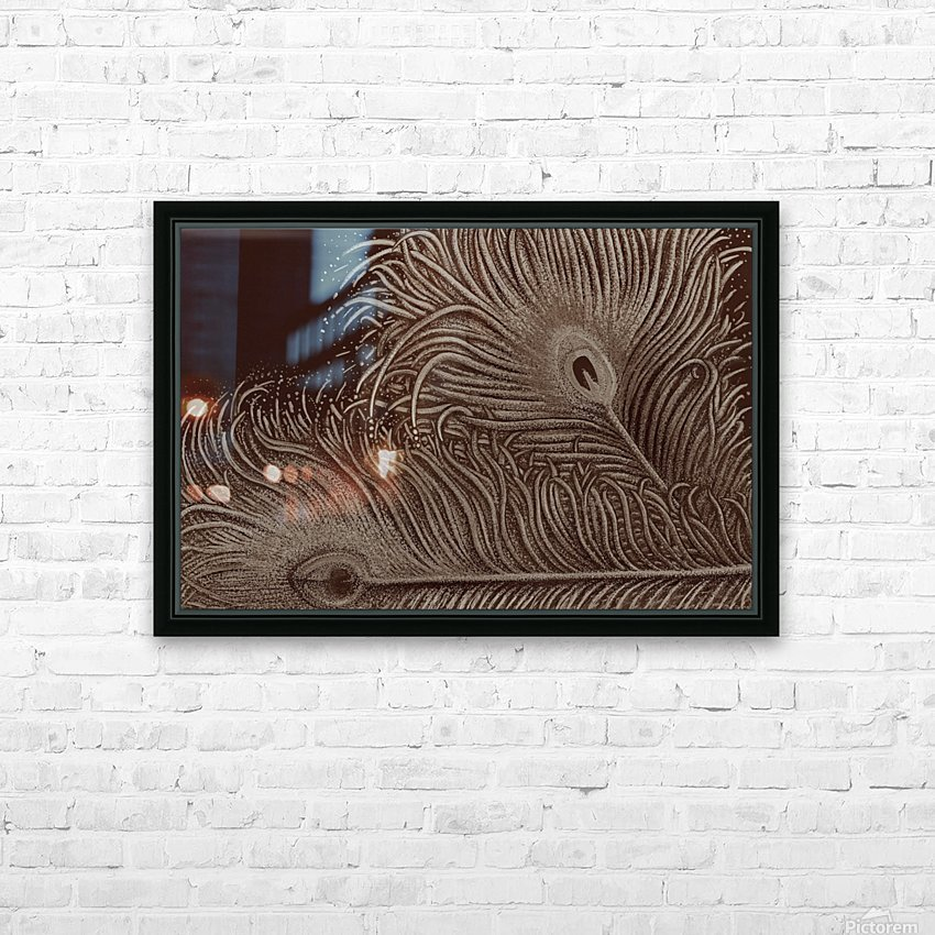 Full Bloom Sepia HD Sublimation Metal print with Decorating Float Frame (BOX)