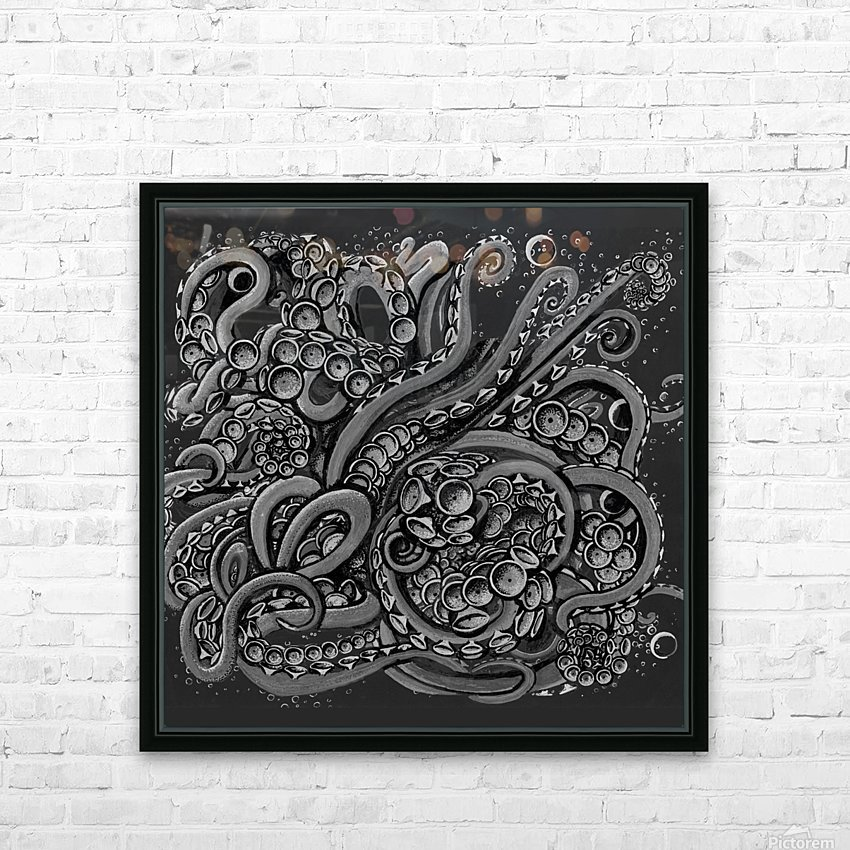 Nova Greyscale HD Sublimation Metal print with Decorating Float Frame (BOX)