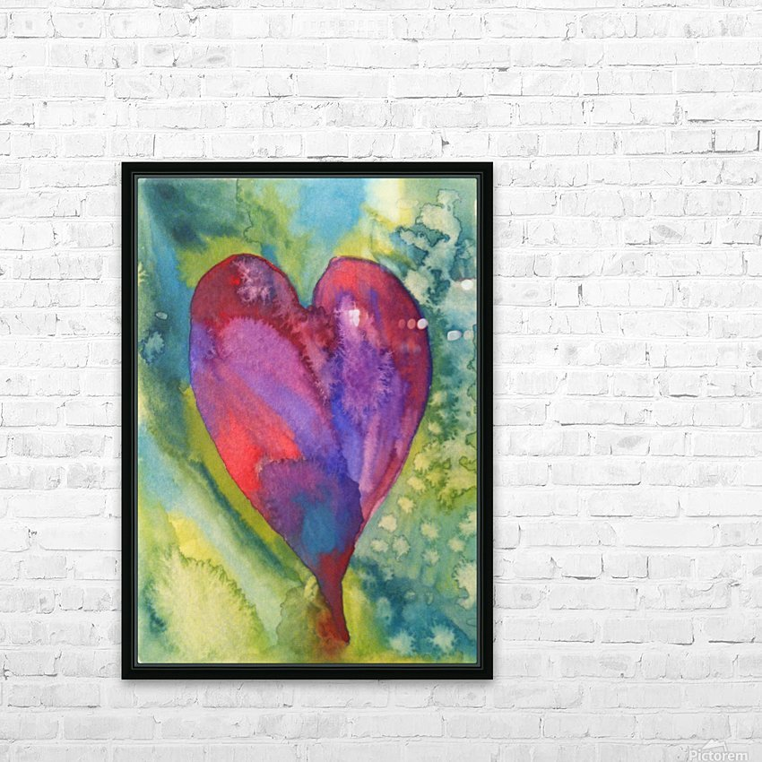 Radiant Heart II HD Sublimation Metal print with Decorating Float Frame (BOX)