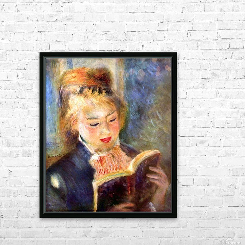 A reading girl1 by Renoir HD Sublimation Metal print with Decorating Float Frame (BOX)