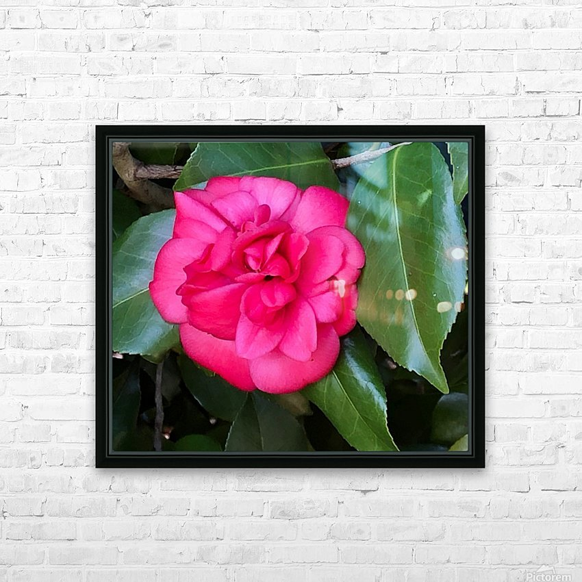 Japanese Camellia HD Sublimation Metal print with Decorating Float Frame (BOX)