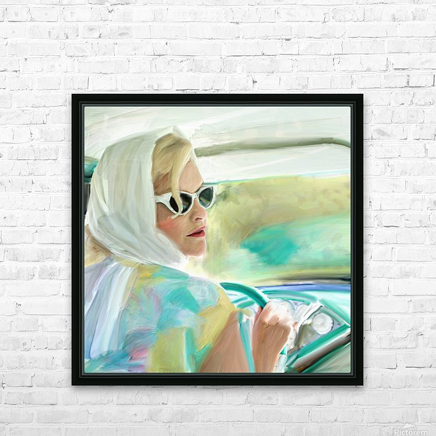Taking a Drive HD Sublimation Metal print with Decorating Float Frame (BOX)