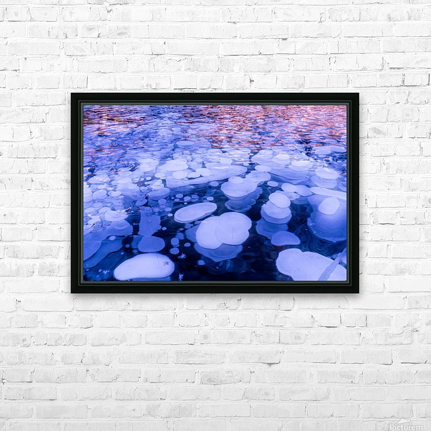 Abraham Lake Bubbles HD Sublimation Metal print with Decorating Float Frame (BOX)