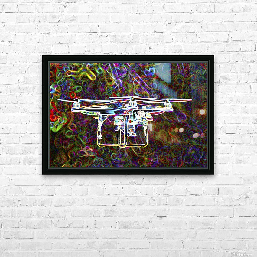 Colorful Quad Copter HD Sublimation Metal print with Decorating Float Frame (BOX)