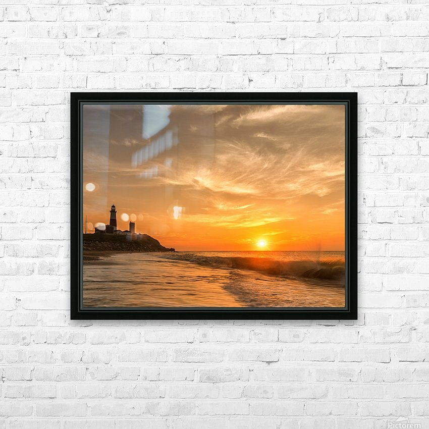 Montauk Beach HD Sublimation Metal print with Decorating Float Frame (BOX)