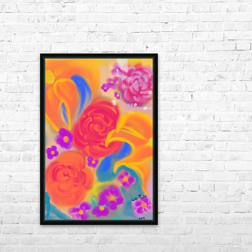 floral HD Sublimation Metal print with Decorating Float Frame (BOX)