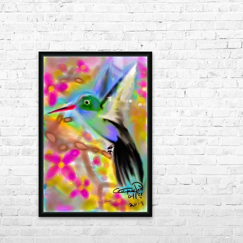 bird & tree.v2 HD sublimation métal imprimé avec décoration flotteur cadre (boîte)