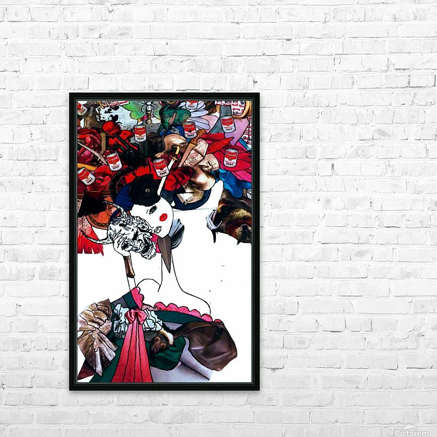 masked geisha HD Sublimation Metal print with Decorating Float Frame (BOX)