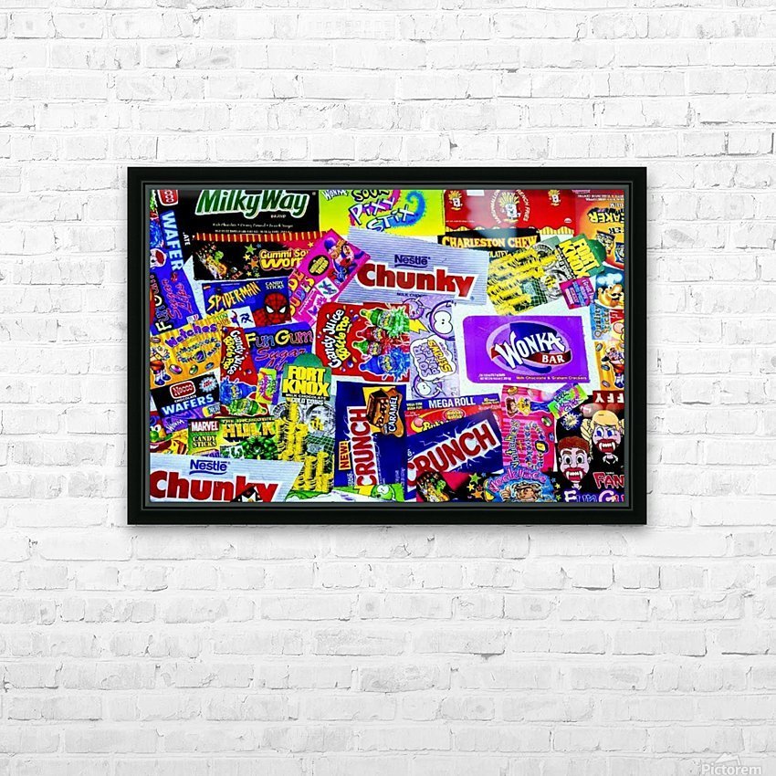 candy wrapper madness HD Sublimation Metal print with Decorating Float Frame (BOX)